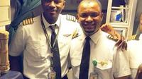Petugas Kebersihan asal Nigeria yang Sukses Jadi Pilot. (dok.Twitter @AzmanAir/https://twitter.com/AzmanAir/status/1024011527718879232/Henry)