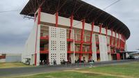 Wajah terkini Stadion Sultan Agung, Bantul, yang dipantau langsung oleh Bola.com, Selasa (4/8/2020). (Bola.com/Vincentius Atmaja)