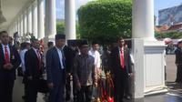 Presiden Joko Widodo atau Jokowi di kawasan Istana Kepresidenan, Jakarta, Rabu (5/6/2019). (Liputan6.com/ Lizsa Egeham)