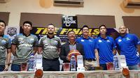 Satria Muda akan menghadapi Stapac Jakarta pada final Indonesia Basketball League 2018-2019. (Bola.com/Zulfirdaus Harahap)