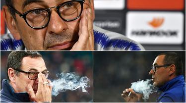 Bukan rahasia bila Maurizio Sarri pelatih Juventus adalah perokok berat. Ia sering merokok di antara sesi latihan atau pertandingan. Dikutip dari Talksport.com dan Calciomercato, Sarri mampu menghisap rokok hingga 80 batang atau tiap 12 menit sekali per harinya.