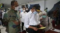 Menko PMK Muhadjir Effendy meminta kejadian penggunaan ulang alat tes antigen bekas tidak terulang kembali saat memberikan pernyataan di Medan, Sumatera Utara, Sabtu, 1 Mei 2021. (Dok Kemenko PMK)