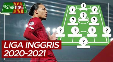 Berita motion grafis Starting XI pemain paling bernilai Liga Inggris musim 2020/2021, didominasi Liverpool.