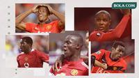 Eric Djemba-Djemba, Wilfried Zaha, Eric Bailly, Odion Ighalo dan Mame Biram Diouf. (Bola.com/Dody Iryawan)