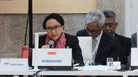 Menlu Retno Marsudi dalam pertemuan ASEM di Madrid. (Source: Kemlu RI)
