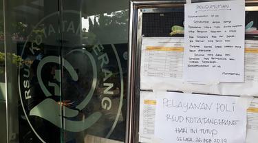 Setelah Kebakaran, Operasional RSUD Kota Tangerang Dihentikan (Liputan6.com/Pramitha)