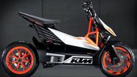 Render skuter listrik Bajaj-KTM (Indianautosblog.com)
