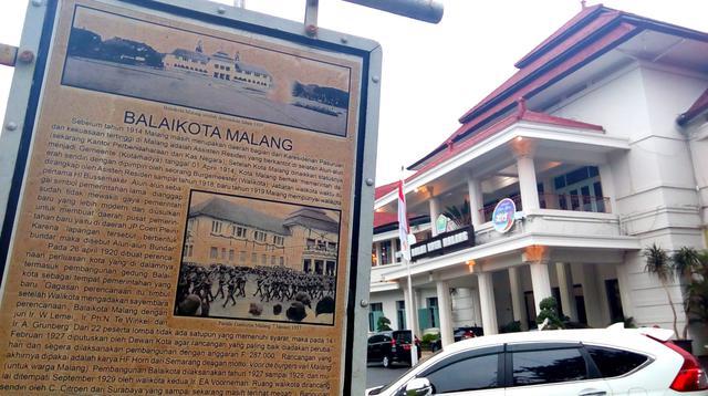 Gedung Balai Kota Malang termasuk satu dari 32 bangunan yang ditetapkan sebagai cagar budaya Kota Malang (Liputan6.com/Zainul Arifin)