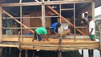 Kementerian PUPR menyalurkan Program Bantuan Stimulan Perumahan Swadaya (BSPS) atau bedah rumah untuk 4.114 unit rumah di Papua. (Kementerian PUPR)