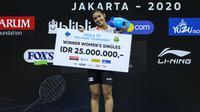 Gregoria Mariska Tunjung menjuarai PBSI Home Tournament 2020, Jumat (24/7/2020). (PBSI)