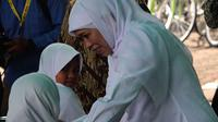 Menteri Sosial Khofifah Indar Parawansa saat mengunjungi Balikpapan, Kaltim, awal tahun 2016. (Liputan6.com/Abelda Gunawan)