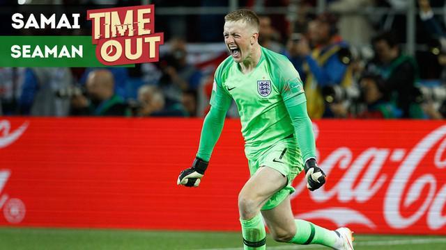 Berita video Time Out tentang kiper Timnas Inggris, Jordan Pickford, yang menyamai pencapaian legenda kiper The Three Lions, David Seaman.
