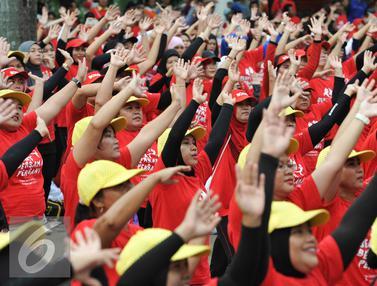 Cari Dukungan Masyarakat, Persani Gelar Senam Kolosal di CFD