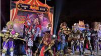 Suasana di perhelatan Mobile Legends: Bang Bang Indonesia Carnival 2019, di Bekasi, akhir pekan lalu.  (FOTO / Ist Moonton)