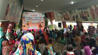 Kegiatan Festival Dongeng Lombok di Museum NTB, Lombok, NTB pada Sabtu (17/11/2018) (Liputan6.com/Giovani Dio Prasasti)