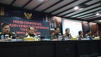 Kejaksaan Agung menggelar jumpa pers di Gedung Kejagung, Jakarta. (Liputan6.com/Rezki Apriliya Iskandar)