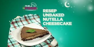 Rayakan Hari Lebaran dengan Lembutnya Unbaked Nutella Cheesecake