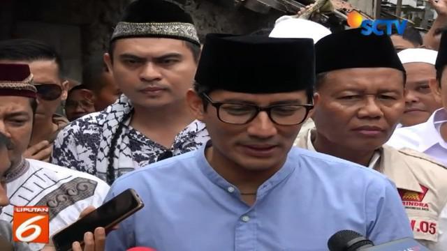 Pasangan Prabowo Subianto ini meminta kepada para pendukung capres dan cawapres tidak saling gontok gontokan atau saling ejek.
