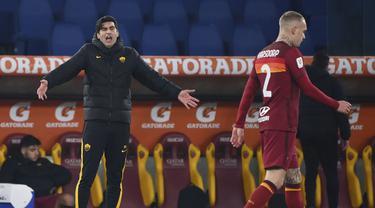 FOTO: Tampil Dengan 9 Pemain, AS Roma Kandas 2-4 dari Spezia Dalam Babak 16 Besar Coppa Italia