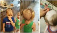 Potongan video setelah Teddy mencukur rambutnya dan dua adiknya, Eloise dan Fred (dok. Instagram @stephie_leigh_/https://www.instagram.com/stephie_leigh_/Fairuz Fildzah)
