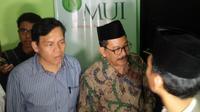 Wakil Ketua Umum MUI Zainut Tauhid (sebelah kanan)(Liputan6.com/ Oscar Ferri)