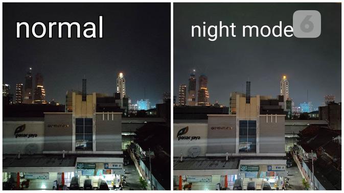 Hasil foto malam hari menggunakan Oppo Reno5 (Liputan6.com/ Agustin Setyo W)