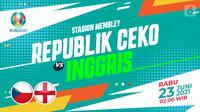 Republik Ceko vs Inggris (liputan6.com/Abdillah)