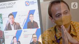 "Marketing Director APG Agung Wirajaya pada Webinar Virtual ""Proyek Agung Podomoro Group Paling NGEGAS di Jawa Barat"" di Jakarta, Kamis (5/11/2020). Agung Podomoro terus mempercepat pembangunan lima proyek utamanya di Jawa Barat. (Liputan6.com/Fery Pradolo)"