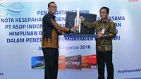 Penandatangan sinergi kerjasama tersebut dilaksanakan di Hotel Borobudur Jakarta, dengan dihadiri oleh Direktur Komersial ASDP Yusuf Hadi, Direktur Hubungan Kelembagaan Bank BRI Sis Apik Wijayanto.