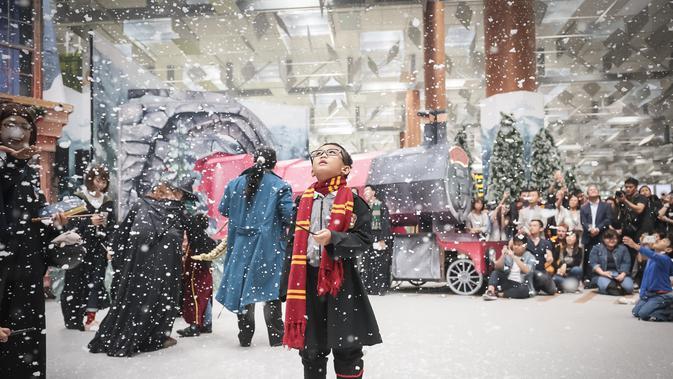 Menemukan Salju di Hogsmeade Village
