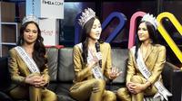 3 Puteri Indonesia memberikan pesan yang berisi semangat kepada wanita Indonesia (Liputan6.com/Komarudin)