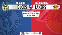 Jadwal NBA, Milwaukee Bucks Vs LA Lakers. (Bola.com/Dody Iryawan)