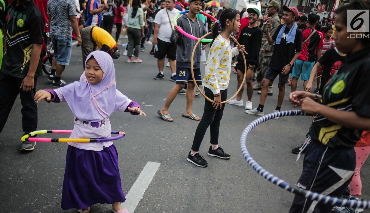Foto Senangnya Anak Anak Bermain Permainan Tradisional Di Cfd News Liputan6 Com