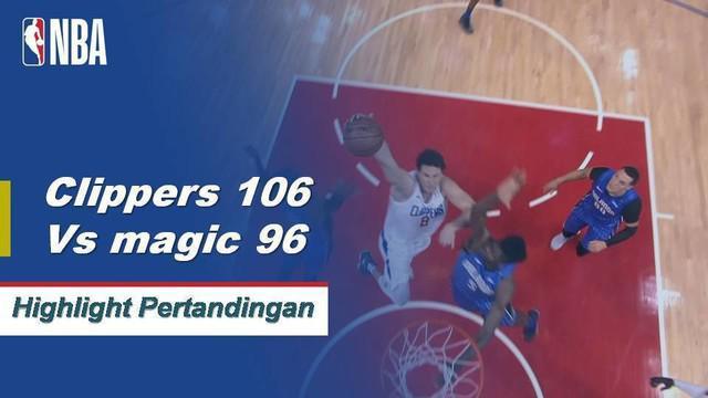 Tobias Harris membukukan 28 poin dalam kemenangan Los Angeles atas Orlando. Nikola Vucevic menambah 16 poin dan 24 rebound untuk Magic.
