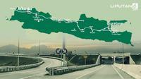 Banner Infografis Satu Arah Tol Trans Jawa Saat Mudik Lebaran. (Liputan6.com/Abdillah)
