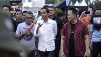 Didampingi Triawan Munaf, Jokowi menghadiri WTF 2018. (KapanLagi.com/Agus Apriyanto)