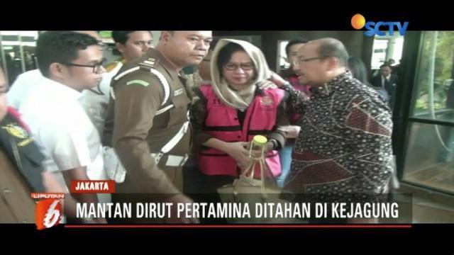 Mantan Dirut PT Pertamina Karen Agustiawan ditahan karena terlibat dugaan korupsi penyalahgunaan investasi di Blok Basker Manta Gummy Australia.