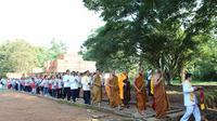 Suasana perayaan Waisak pada 2017 lalu di Candi Muarojambi. (Liputan6.com/B Santoso)