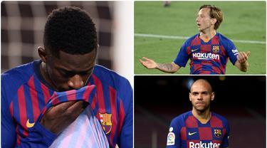 Ronald Koeman resmi menjadi pelatih baru Barcelona menggantikan Quique Setien. Koeman dipastikan akan membuat perombakan besar di Barcelona, terlebih untuk pemain dengan performa buruk. Berikut 5 pemain yang berpotensi ditendang Ronald Koeman dari Barcelona. (kolase foto AFP)
