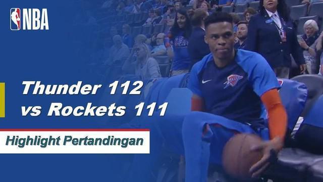 Russell Westbrook mencatatkan triple-double (29 poin, 12 rebound, 10 assist) dan Paul George mencetak skor 3-pointer kemenangan pertandingan dengan 1,8 detik tersisa ketika Thunder menang keempat beruntun mereka.