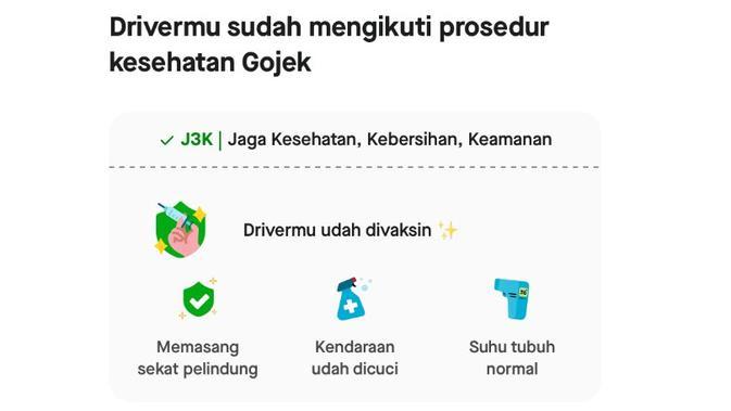 Mengecek status vaksinasi driver Gojek (Foto: Gojek).