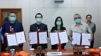 Grab bersama Good Doctor Technology Indonesia telah menandatangani Perjanjian Kerja Sama dengan Kementerian Kesehatan untuk screening Covid-19. (sumber: Grab)