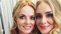 Adele (kanan) bersama salah seorang personel Spice Girl, Geri Halliwel. (dok.Instagram @adele/https://www.instagram.com/p/BywUqnaC4h-/Henry)