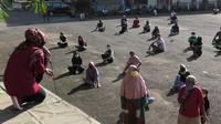 Ratusan pemudik Banyumas dikarantina di GOR Satria, sebagian besar berlebaran di lokasi karantina. (Foto: Liputan6.com/Humas Pemkab Banyumas)
