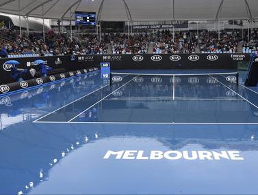 Hujan Hentikan Pertandingan Hari Pertama Australia Terbuka