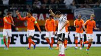Timnas Belanda mengalahkan Jerman dengan skor 4-2 dalam Kualifikasi Euro 2020, Sabtu (7/9/2019) (Odd Andersen/AFP)