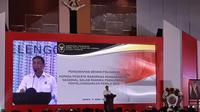 Menko Polhukam Wiranto memberikan sambutan di Rakornas Bidang Kewaspadaan Nasional Dalam Penyelenggaraan Pemilu Tahun 2019', Jakarta Barat. (Merdeka.com)