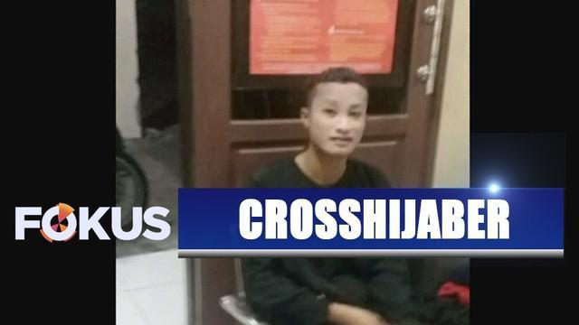 Polisi menangkap seorang pria pelaku pencurian yang menyamar memakai hijab dan cadar di Kota Ternate.