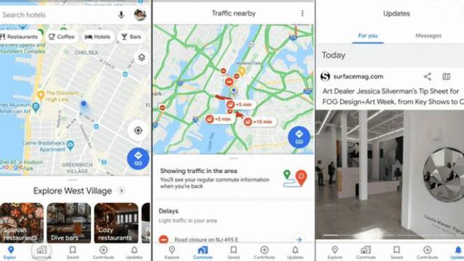 Wajah Baru dan Deretan Fitur Anyar Google Maps
