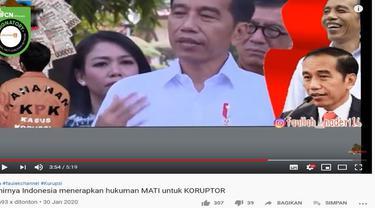Gambar Tangkapan Layar Video Tentang Hukuman Mati Bagi Koruptor